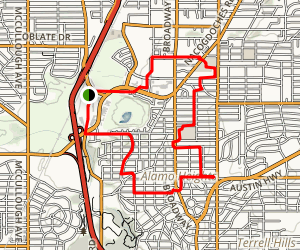 San Antonio Quarry Market Walk Loop Map