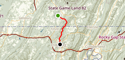 Allegheny Highlands Trail-Deal to Frostburg Map