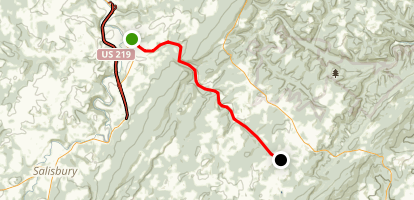 Allegheny Highlands Trail-Meyersdale to Deal Map