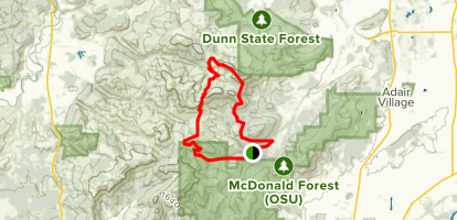 The Forest Peak Loop Map