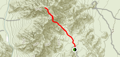 Newman Peak: Southeast Face Map