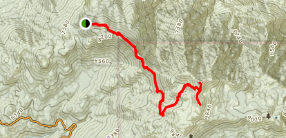 Jean Peak Via Fuller Ridge Map