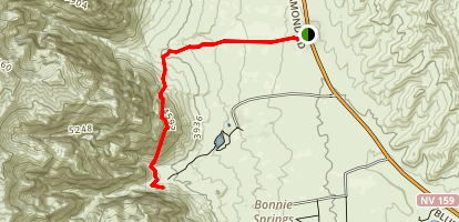 Sandstone Springs via First Creek Trail Map