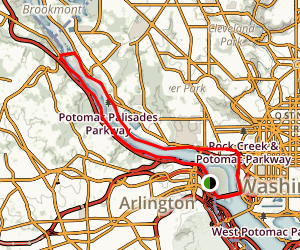 Potomac Heritage Trail and C&O Canal Towpath - Key Chain Loop Map