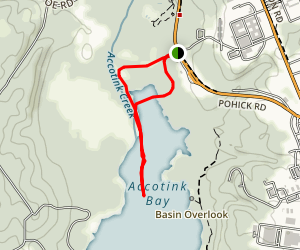 Beaver Pond Trail,  Accotink Bay Wildlife Refuge Map