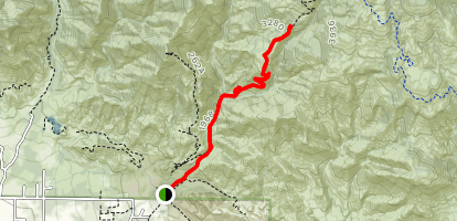 Horn Canyon Trail Map