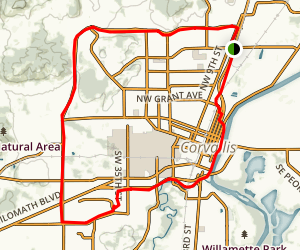 Corvallis Bike Loop Map