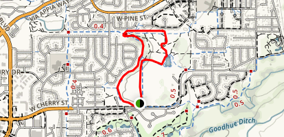 Warembourg fish pond loop Map