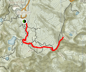 Snake Creek Pass/Clayton Peak Trail Map
