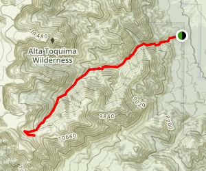 Pine Creek (Alta Toquima Wilderness) Map