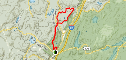 Wildcat Moutain to Indian Hill  Map