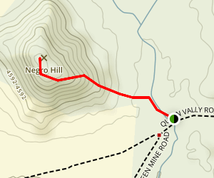 Negro Hill Trail Map