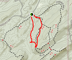 Oak Mountain Loop Trail Map
