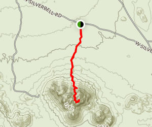 Ragged Top North Gully Trail Map