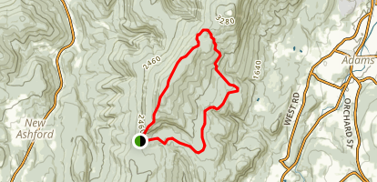 Saddle Ball Mountain via Appalachain Trail Map