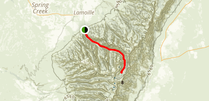 Lamoille Canyon Road Map