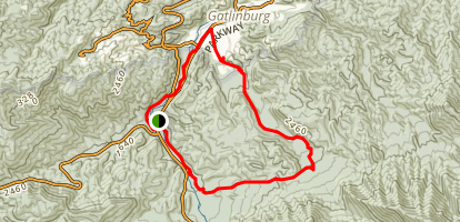 Old Sugarlands, Twin Creeks, Gatlinburg Loop Trail Map