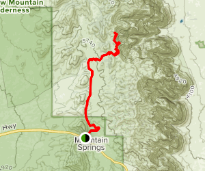 Sandstone Canyon Overlook from Mountain Springs Map