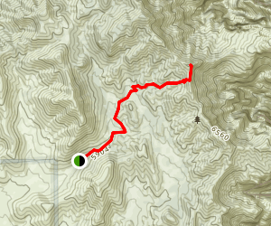 First Creek Peak & Overlook Trail Map