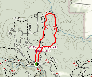 Wolf Cave Trail (Trail 5) Map