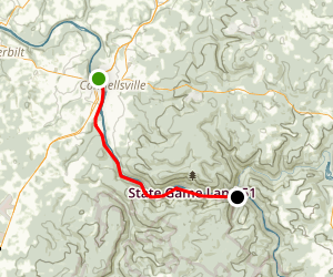 Yough River Trail - Connelsville to Camp Carmel Map