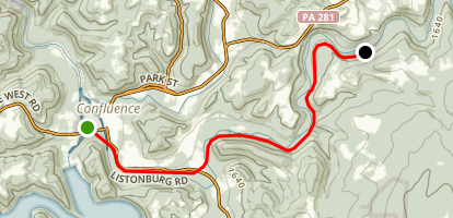 Allegheny Highlands Trail - Confluence to Ft. Hill Map