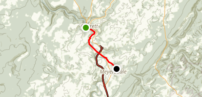 Allegheny Highlands Trail - Garrett to Meyersdale Map