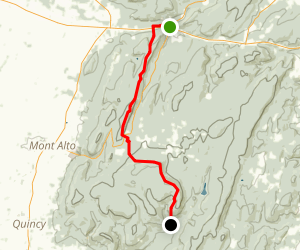 Appalachian Trail Caledonia - Old Forge Rd Map