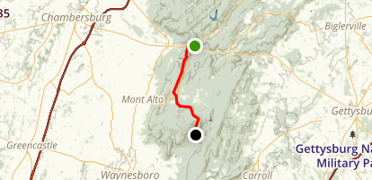 Appalachian Trail: Caledonia Park to Old Forge Road Map