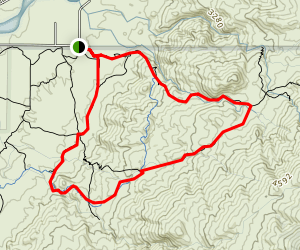 Garwood Dam To Douglas Spring Loop Trail Map