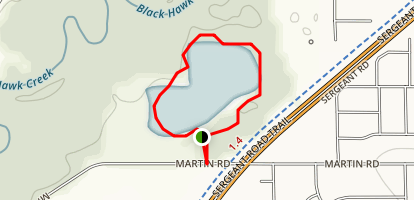 GreenBelt Lake Loop Map