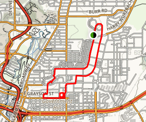 Fort Sam Houston Hike Loop Map