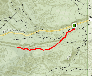 The Slots (lower Kyle Canyon) Map