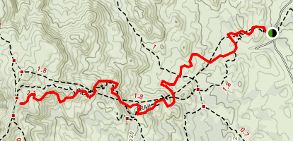 Arizona Trail: American Flag Ranch Segment Map