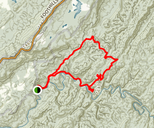 Abrams Creek and Cooper Road Loop Trail Map