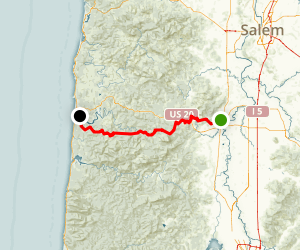 Corvallis to the Coast Map