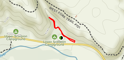 Gila NF - Trail to the Past Map