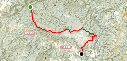 Appalachian Trail: Dennis Cove to US19E Map