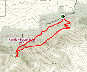 Kamiak Butte Trail Map