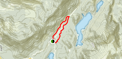 Ward Lake and Ward Creek Trail Map