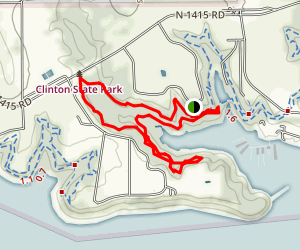 Clinton Lake North Shore Loop Map