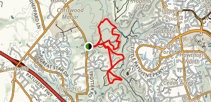 Middle Patuxent Environmental Area Trails Map