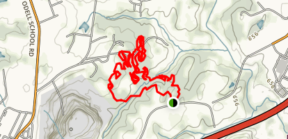 Beech Spring Mountain Bike Trail [CLOSED] Map