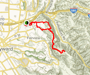 Bay Area Ridge Trail: Independent School to Five Canyons and Newt Pond Trail Map