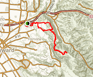 Bay Area Ridge Trail: Independent School to Five Canyons Map