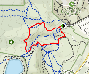 Stratton Open Space Ponderosa and Ridge Loop Map