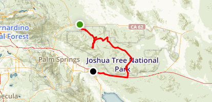 Joshua Tree National Park Scenic Drive Map