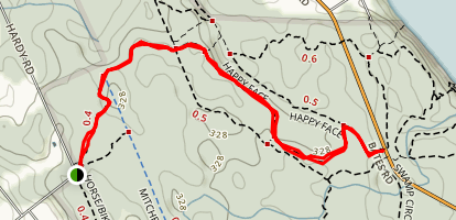 hardy rd trail Map