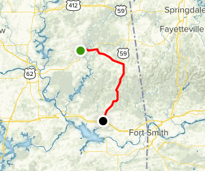 Cherokee Nation Scenic Drive: Tahlequah to Sallisaw Map