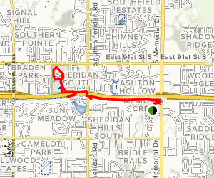 Creek Trail to Hunter Park Map
